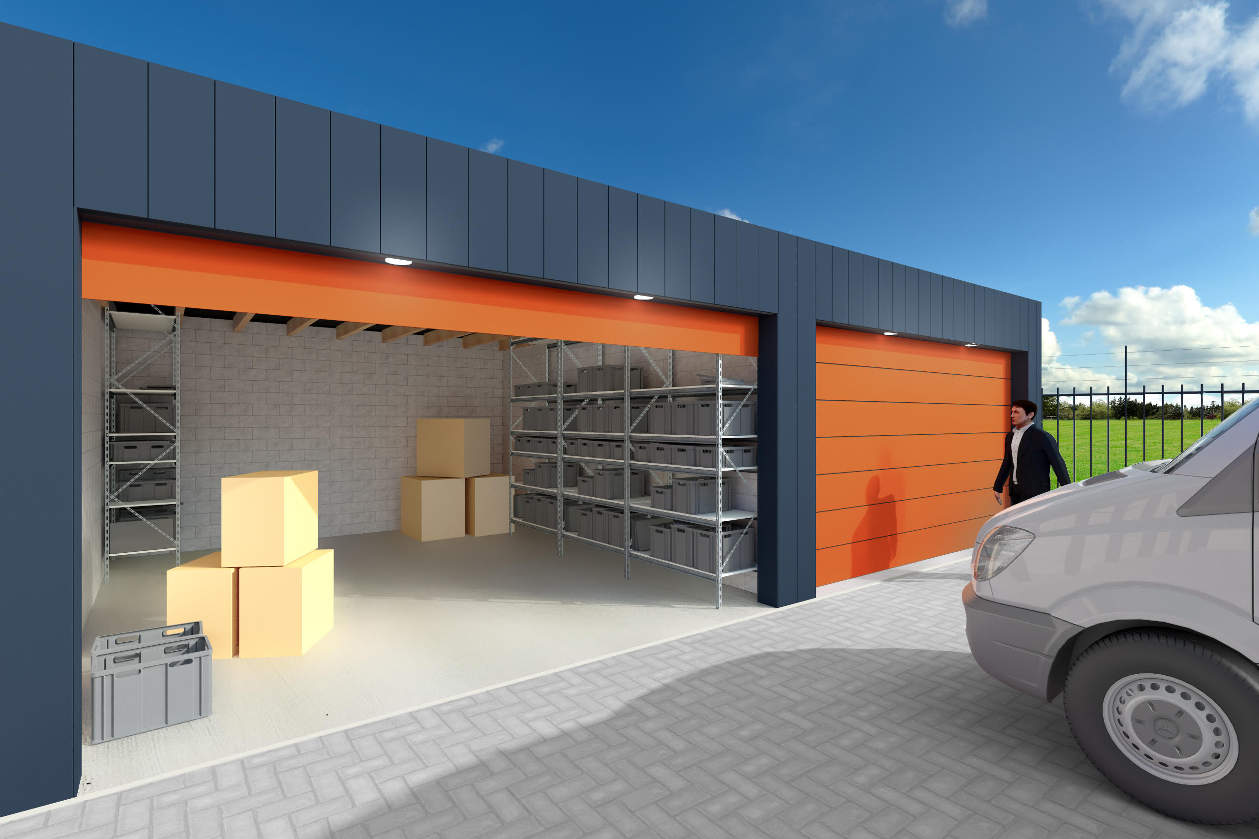 For rent garageboxes in Rotterdam (Hillegersberg) north of the A20.